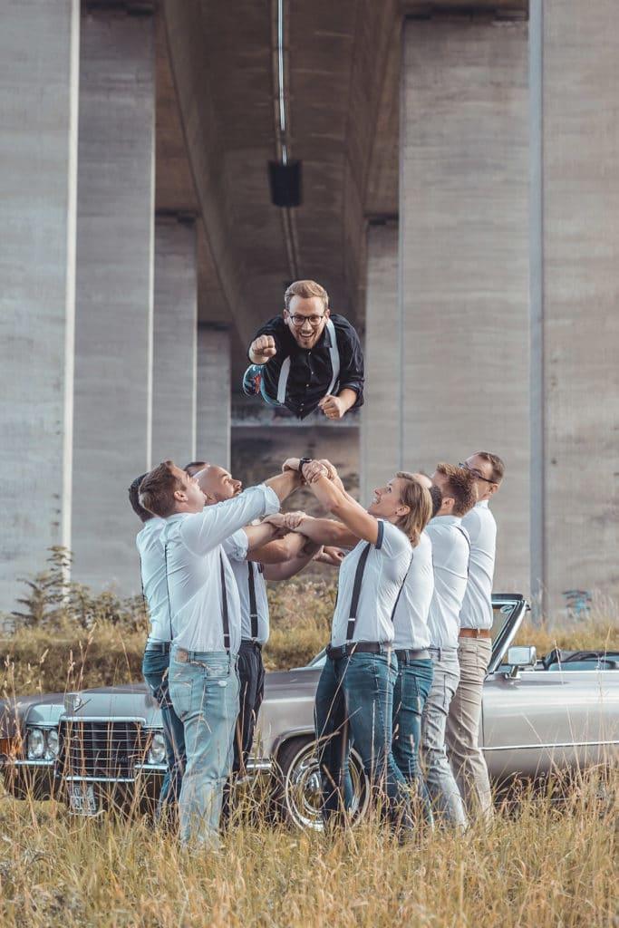 Jungs Fotoshooting Junggesellenabschied Heilbronn