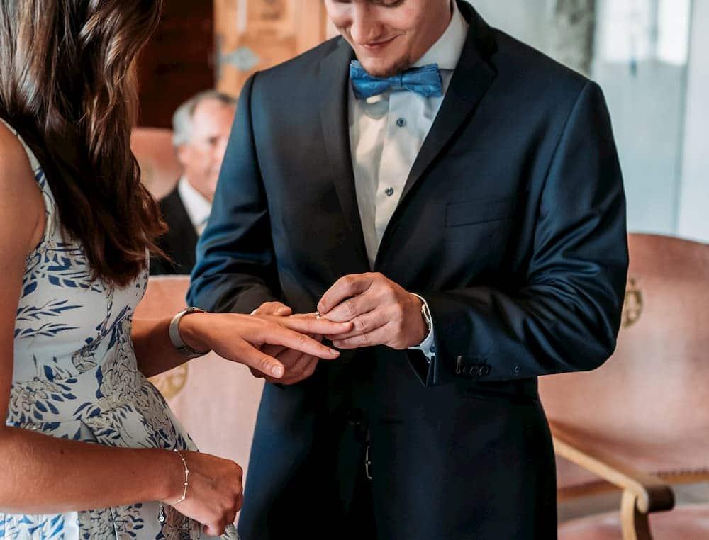 Ringtausch an der Hochzeit